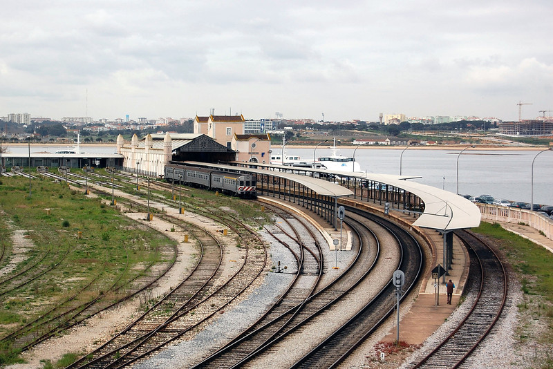 Barreiro station across the river from Lisboa.