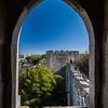 window Castelo de S Jorge Lisbon
