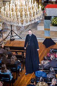 priest on stilts Ingreja da Misericordia