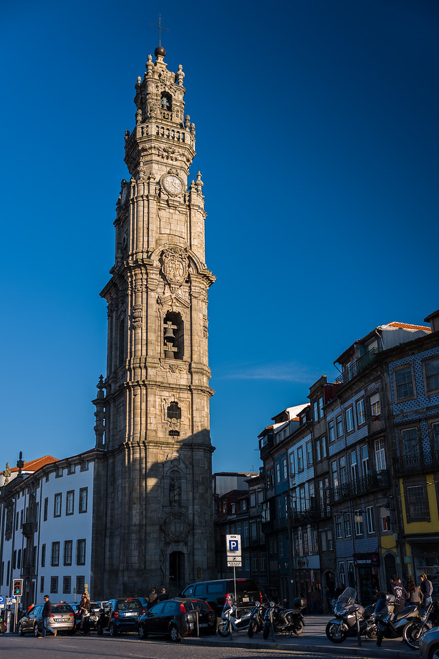 Clerigos Tower Porto late afternoon