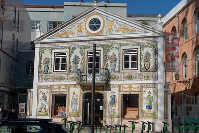 Tiled building in Lisbon, Portugal