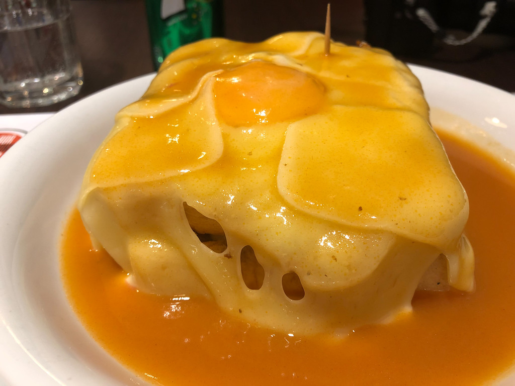 Francesinha sandwich in Porto