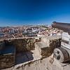 cannon at Castelo de S Jorge overlooking Lisbon