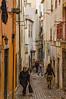 A very narrow street in Lisbon