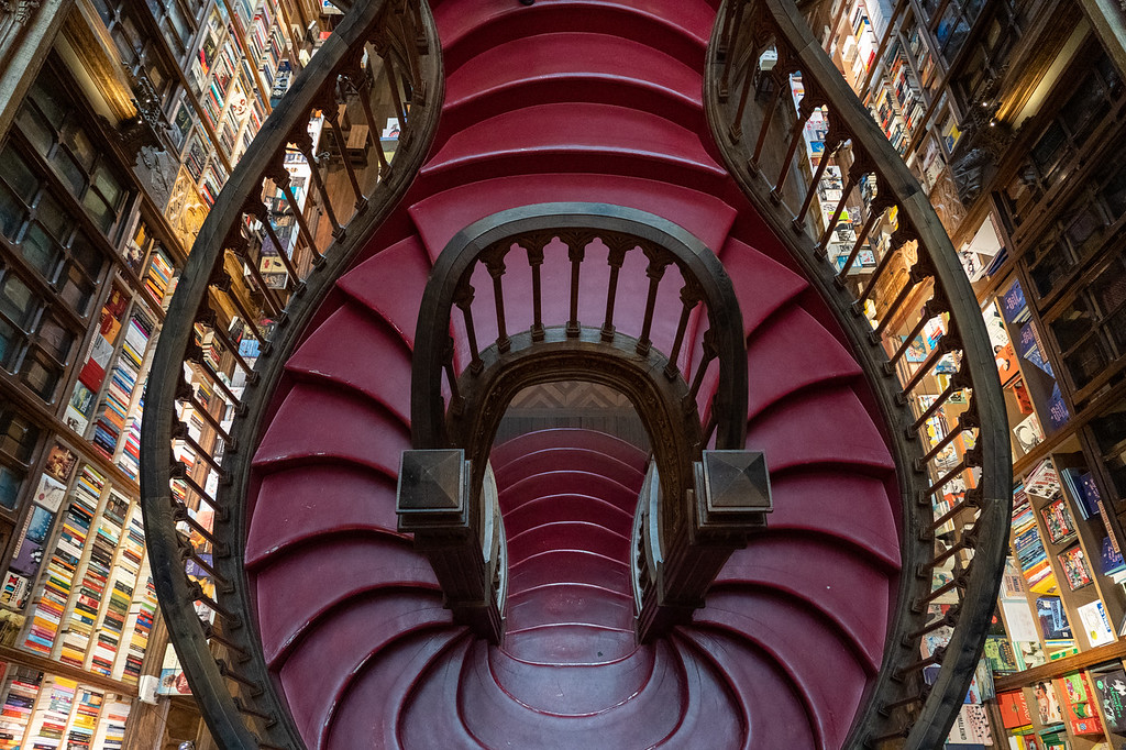 Stairs at Livraria Lello