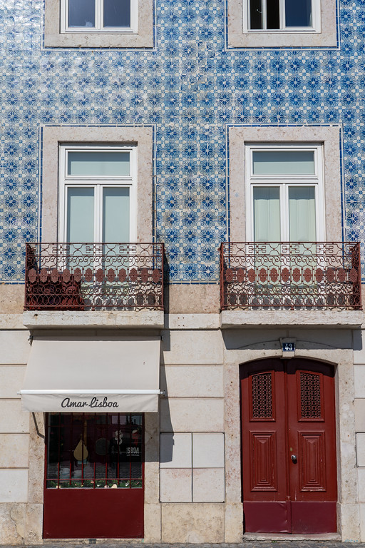 Tiled building in Lisbon, Portugal