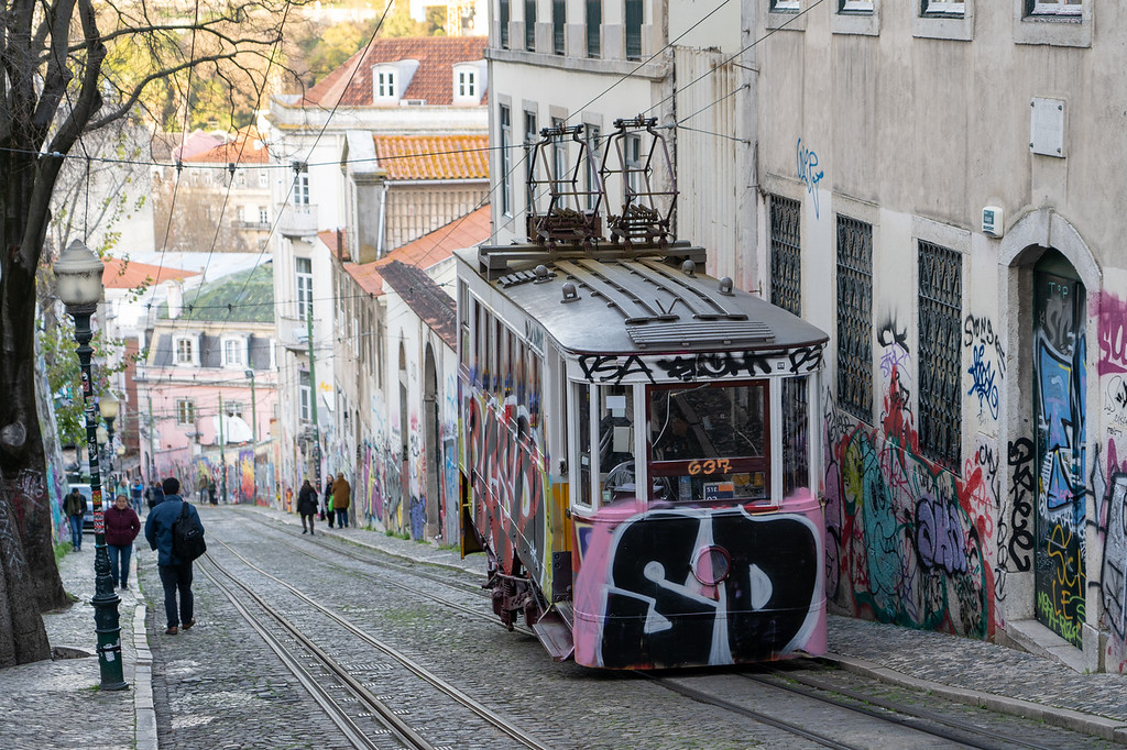 Ascensor da Glória in Lisbon