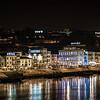 illuminated signs on southern shore Porto