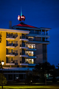 neon sign on Hotel dos Templarios Tomar