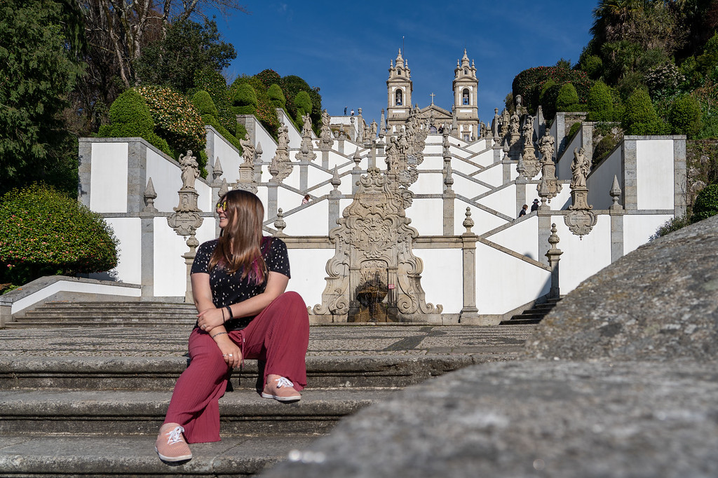 Amanda wearing SUAVS in Portugal