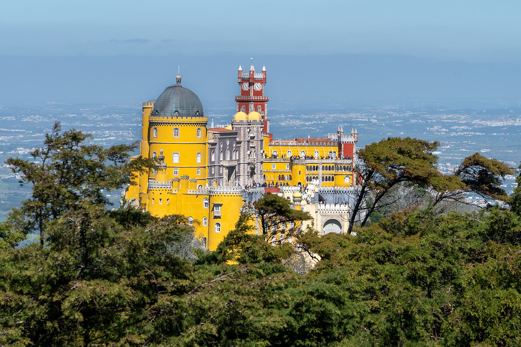 Pena Palace from Cruz Alta