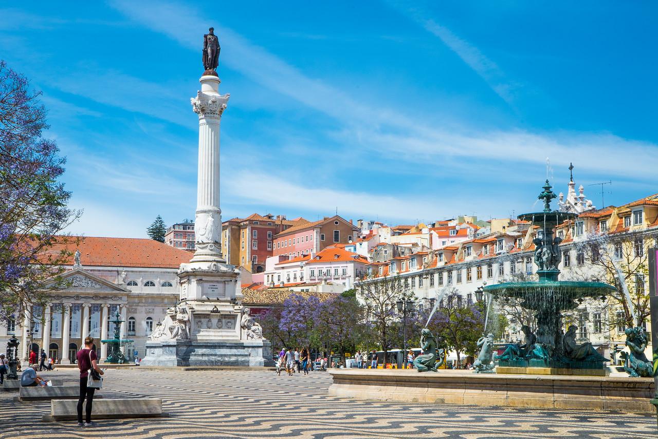Lisbon Baixa Rossio Square