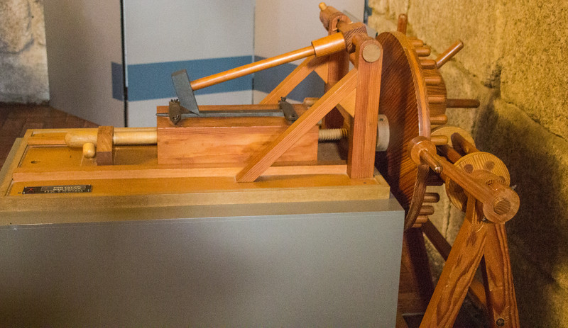 A Machine Designed by Leonardo da Vinci for Automating the Production of Metal Files (©simon@myeclecticimages.com)