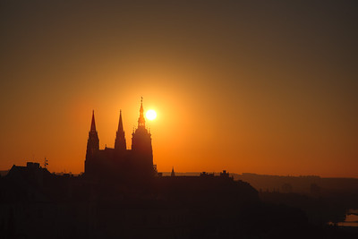 Sunrise over St. Vitus Cathedral