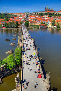 View from top of east tower of Charles Bridge