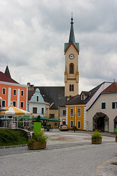 <center>Clock Tower   <br><br>Zwettl, Austria   <br><br>What town would be complete without a clock tower?    </center>