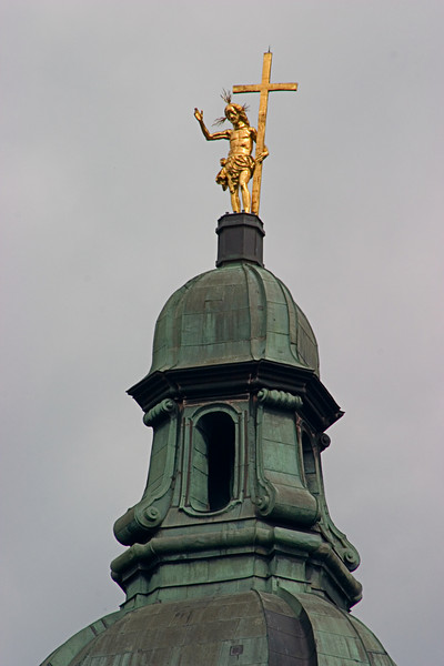 <center>Golden Cross   <br><br>Zwettl, Austria   <br><br>The figure of Christ carrying the cross was very impressive.    </center>