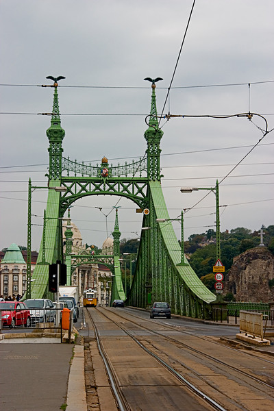 <center>Tram Tracks   <br><br>Budapest, Hungary   <br><br>Like a page out of Sargeant's Folly, this old bridge supports Budapests trams.    </center>