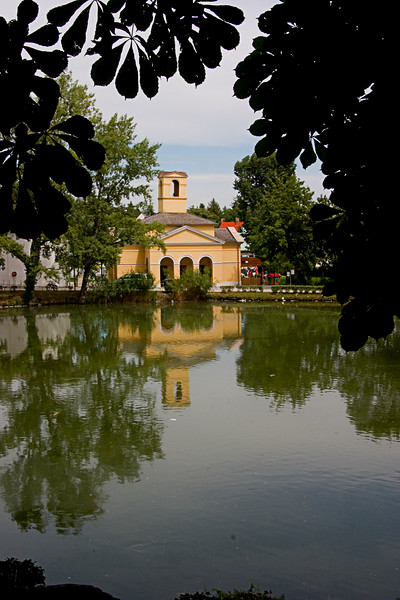 <center>Reflections   <br><br>Eisenstadt, Austria   <br><br>We passed this pond with these great reflections on our walk out of Eisenstadt.    </center>