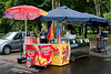 <center>Ice Cream Break!   <br><br>Budapest, Hungary   <br><br>Here's yet another ice cream stand.    </center>
