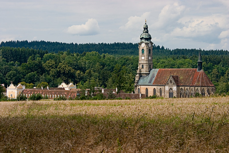 <center>Zwettl Abbey   <br><br>Zwettl, Austria   <br><br>This abbey, dating back to the crusades, is run by Cistercian monks.    </center>