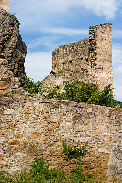 <center>Castle Walls   <br><br>Durnstein, Austria   <br><br>The castle was destroyed by the Swedes in the 1600s during the 30-year war.    </center>