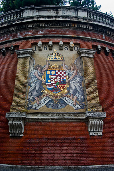 <center>Royal Crest   <br><br>Budapest, Hungary   <br><br>The crest of the Ottoman Empire towers over the riverfront.    </center>