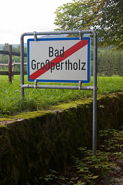"<center>City Limits   <br><br>Gross Pertholz, Austria   <br><br>I'm going to go out on a limb and say this sign reads ""Leaving Gross Pertholz.""    </center>"