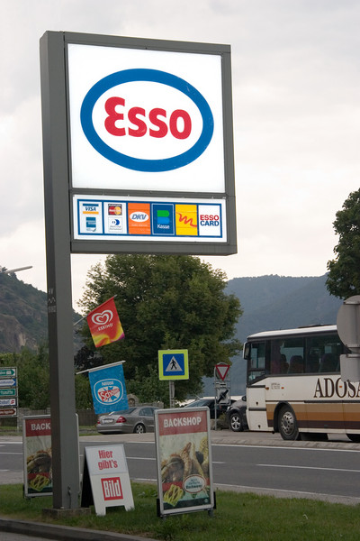 <center>Esso Sign   <br><br>Spritz, Austria   <br><br>The name was changed to Exxon only in the US. Everybody else still knows it as Esso.    </center>