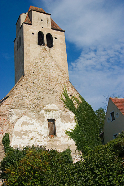 <center>Medieval Church   <br><br>Durnstein, Austria   <br><br>This church has been around since the middle ages.    </center>