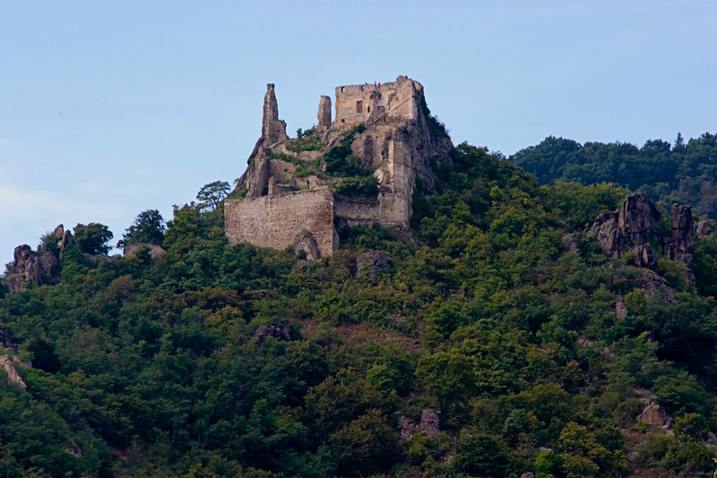 <center>Castle Durnstein   <br><br>Durnstein, Austria   <br><br>These are the ruins of Castle Durnstein, destroyed in the 17th century during the 30 years war. This castle was once the prison of King Richard the Lionhearted.    </center>