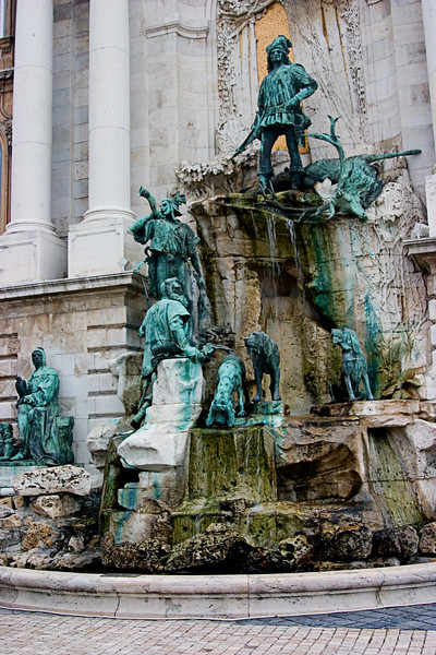 <center>Intricate Fountain   <br><br>Budapest, Hungary   <br><br>This fountain reminded me of Trevi Fountain in Rome.    </center>