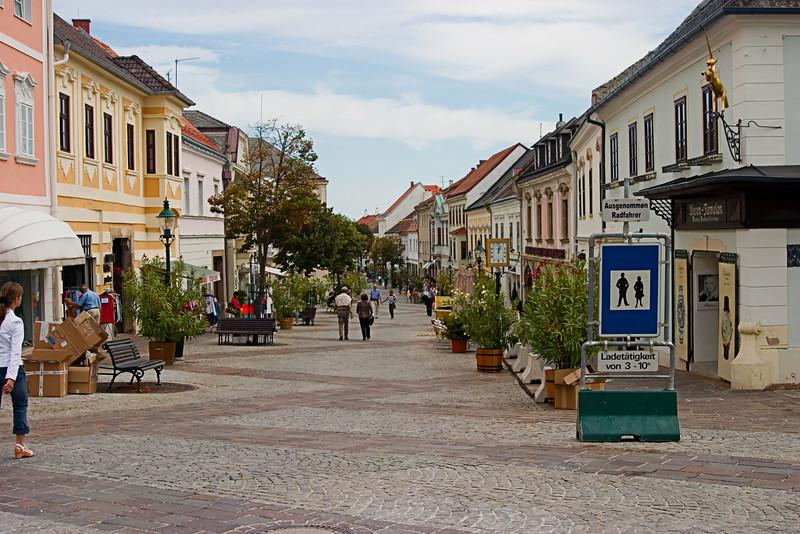 <center>Town Center   <br><br>Eisenstadt, Austria   <br><br>This is the central plaza of Eisenstadt.    </center>