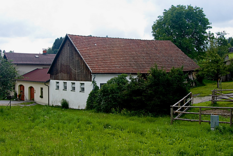 <center>Farmhouse   <br><br>Gross Pertholz, Austria   <br><br>We crossed into Austria and went for a walk to Gross Pertholz. This area was all farmland.    </center>