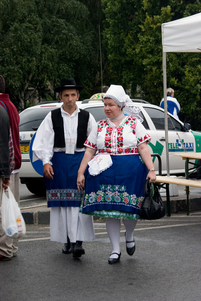 <center>Costumed Dancers   <br><br>Budapest, Hungary   <br><br>There was a festival going on in Budapest. These costumed dancers were participants.    </center>