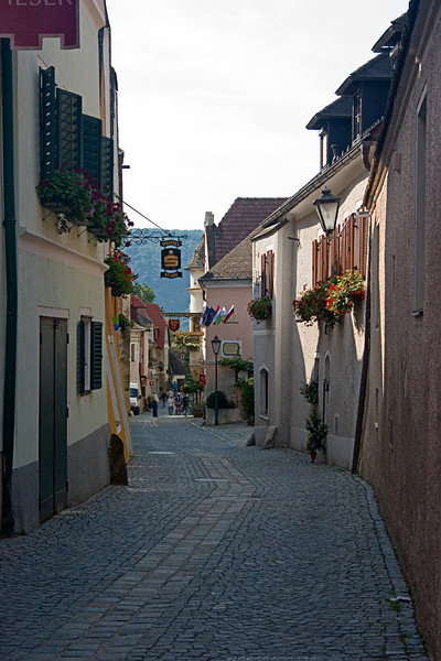 <center>Main Street   <br><br>Durnstein, Austria   <br><br>This is the main street of Durnstein. That's not saying much, though, since you could count the number of streets on one hand.    </center>