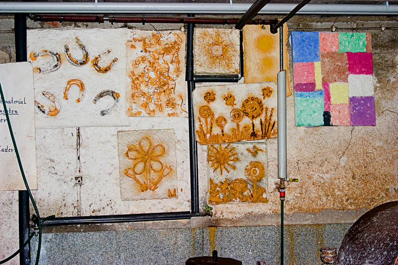 <center>Artwork   <br><br>Gross Pertholz, Austria   <br><br>This artwork hung on the walls of the mill. The paper was hand-made here.    </center>