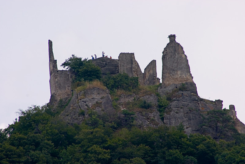 <center>Castle Durnstein   <br><br>Danube River, Austria   <br><br>Castle Durnstein dominated the scenery.    </center>