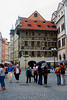 <center>Tourists in Old Town   <br><br>Prague, Czech Republic   <br><br>Even in rainy weather, the Old Town is a bustle of tourist activity.    </center>