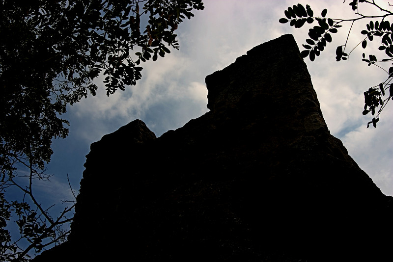 <center>Ramparts   <br><br>Durnstein, Austria   <br><br>We hiked up to Castle Durnstein. I stopped to take this silhouette of the ramparts along the way.    </center>