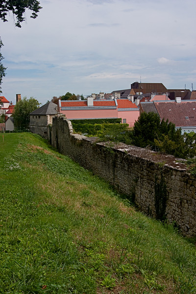 <center>City Wall   <br><br>Eisenstadt, Austria   <br><br>Eisenstadt was a walled city in the middle ages. Much of the wall remains.    </center>