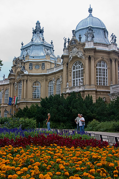 <center>Royal Palace   <br><br>Budapest, Hungary   <br><br>These beautiful flowers were behind the royal palace.    </center>