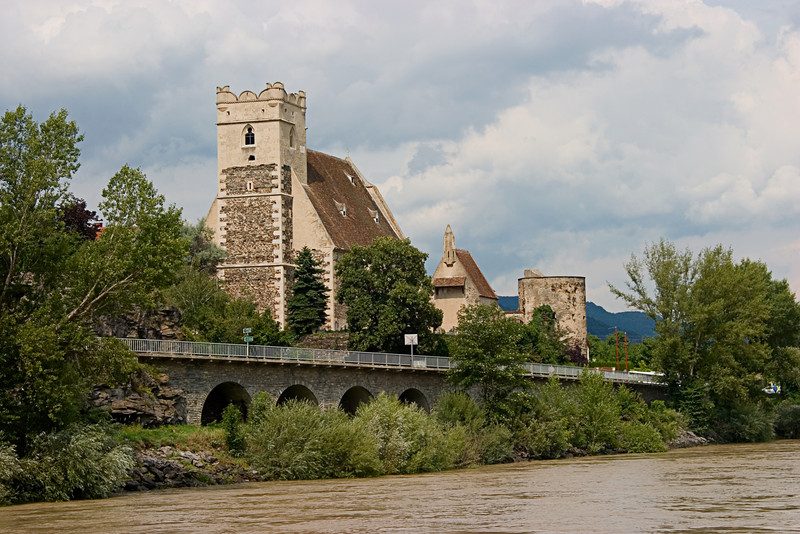 <center>Renaissance Era Church   <br><br>Danube River, Austria   <br><br>We took a short cruise down the Danube River. This church stood out along the way.    </center>