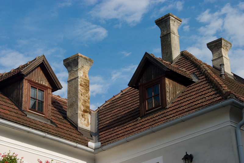 <center>Chimneys   <br><br>Durnstein, Austria   <br><br>These chimneys looked like something out of a Dickens novel.    </center>