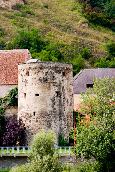 <center>Medieval Tower   <br><br>Danube River, Austria   <br><br>This medieval tower was in the middle of a small town along the Danube.    </center>