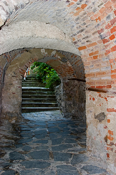 <center>Tunnel's End   <br><br>Durnstein, Austria   <br><br>The tunnel was comprised of a series of arches.    </center>
