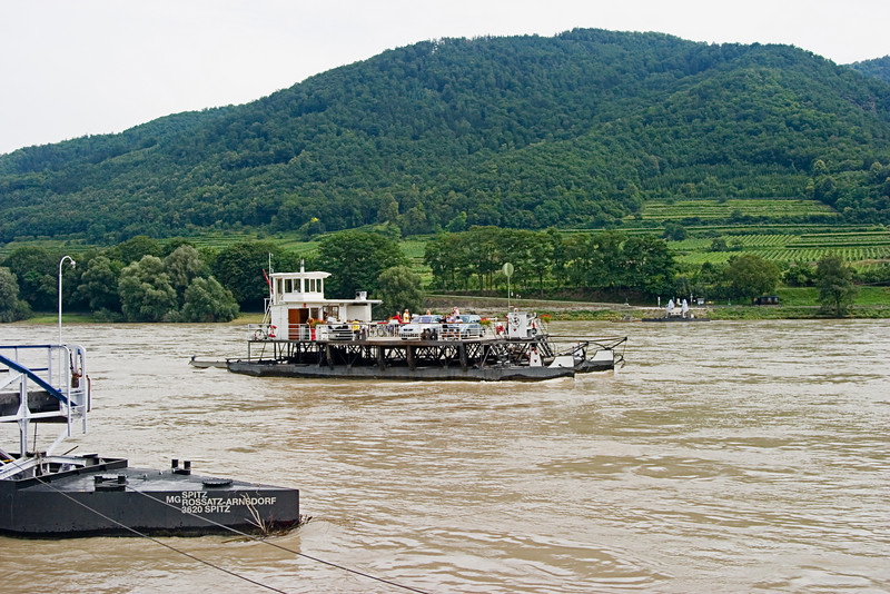 <center>Ferry   <br><br>Spritz, Austria   <br><br>This car ferry crossed the Danube about every 1/2 hour.    </center>