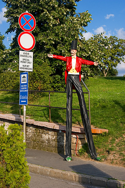 <center>Stilts   <br><br>Budapest, Hungary   <br><br>I've no idea what this statue is supposed to represent.    </center>