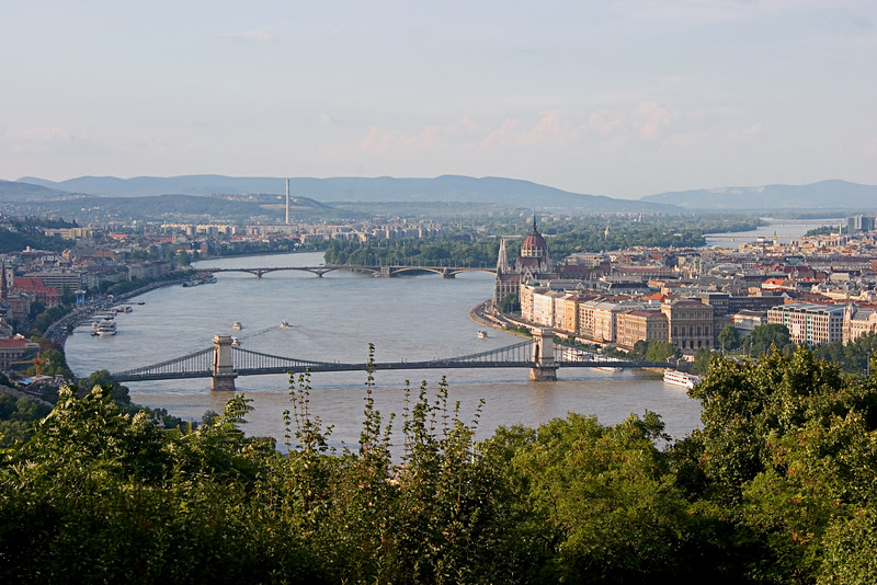 <center>Danube River   <br><br>Budapest, Hungary   <br><br>The Danube separates Buda from Pest.    </center>