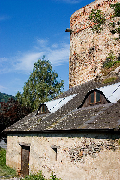 <center>Outside the Walls   <br><br>Durnstein, Austria   <br><br>This building most likely dates to the Renaissance when structures outside the old medieval walls became fashionable.    </center>